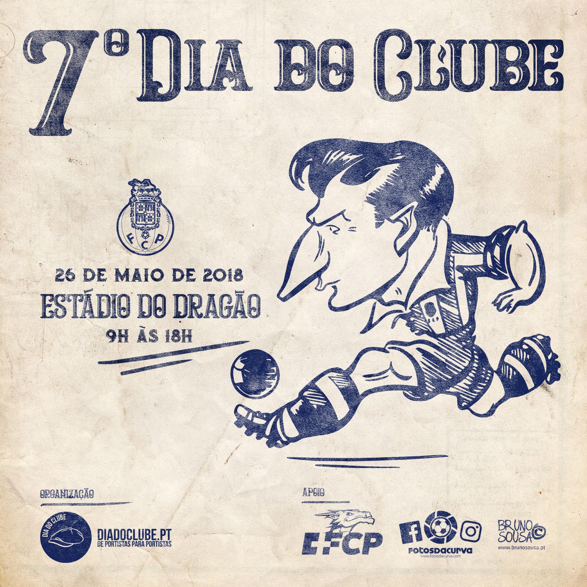 Poster oficial do VII Dia do Clube
